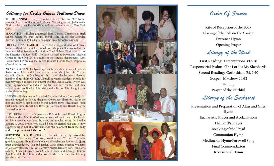 Funeral Program Printing Services  Williams Docuprep  Williams